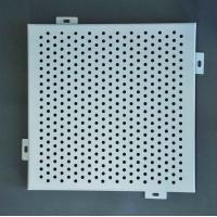 Buy Powder Coated Aluminum Solid Panels Exterior Metal Cladding Perforated patterns at wholesale prices