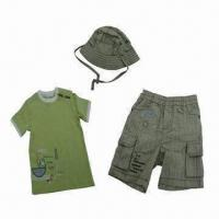 Quality Babies' Clothing Set, Consists of T-shirt, Shirts and Hat for Summer 2013, Various Colors Available for sale