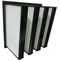 Quality ABS Plastic Frame Mini Pleated Ventilation System Box Type V Bank Filters for sale