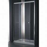 China Standard Tempered Glass Sliding Shower Enclosure, Frameless or with Holes on sale