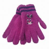 Buy cheap Children's Magic Gloves with Embroidered Design, Made of 100% polyester from wholesalers