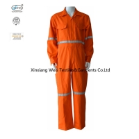China 100% Cotton Heat Protection 310gsm Flame Retardant Coveralls on sale