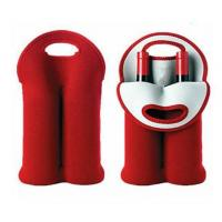 Quality Hot-selling Neoprene Durable Wine holder Water bottle bag two-Bottle holder in different colors for sale