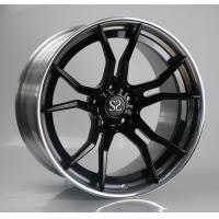 Quality 21 Inch 2 Piece Forged Porsche Wheels Black Centers Polished Barrels for sale