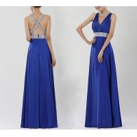 Quality Blue Backless Evening Dresses , Formal Evening Dresses For Women for sale