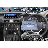 Quality Android 7.1 Car Multimedia System for 2017-2018 Lexus Is 200t Mouse Control with GPS Navigation for sale
