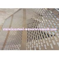 Quality Galvanized Decorative Perforated Sheet Metal , Perforated Aluminium Mesh Sheet for sale