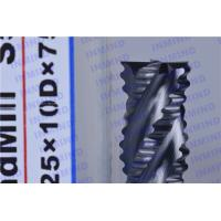 China HRC55 4 Flute Carbide Roughing End Mills with AlTiN / NANO Coating on sale