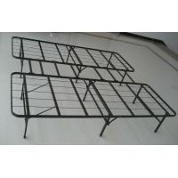 Buy Adjustable black wire mesh metal frame bed queen size long lasting folding metal bed at wholesale prices