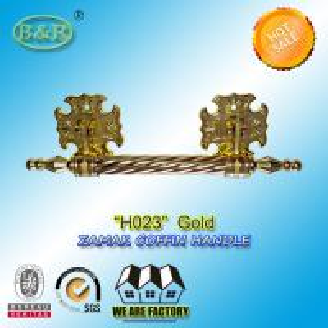 Buy cheap Zinc Casket Metal Handles ,metal Funeral accessory 30 X 9.5cm gold color zamak coffin bar product