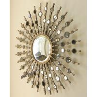 Quality Fashionable Metal Mirror Wall Decor Geometric Design Durable Material for sale
