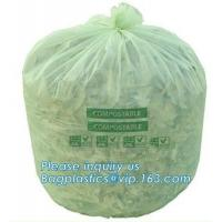 Quality Kitchen Trash Collection Biodegradable Food Waste Bags  / Compostable Garbage Bag for sale