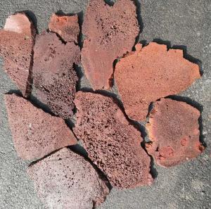 China Red/Brown Lava Stone Random Flagstones,Lava Irregular Flagstones,Basalt Crazy Stones,Lava Random Stones on sale