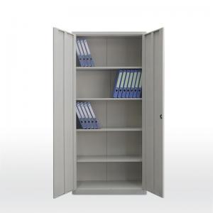 Quality KD Office Steel Cupboard Double Door Metal Filing Cupboard 4 Shelf for sale