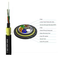 Quality Double Jacket Self Supporting Fiber Optic Cable , Outdoor Dielectric Fiber Cable for sale