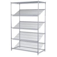 Quality Chrome Plated Rack Commercial Metal Retail Display Wire Shelving Unit For Retail Market for sale