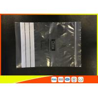 Quality Customized Polyethylene Zip Bags / PE Zip Bags With Great Clarity for sale
