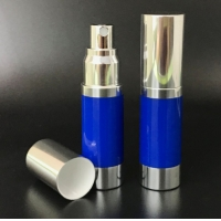 Quality Aluminum 1oz 100ml Snap On Airless Cosmetic Bottles for sale