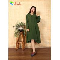 Quality Cotton Chinese Style  Long Sleeve Maxi Dress for sale