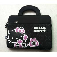 Quality 14 Inch Black Neoprene Laptop Tote Bag Hello Kitty With Handle for sale