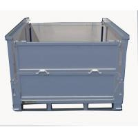 Quality Heavy Duty Storage Steel IBC Containers / Stackable Warehouse Bins 120mm Feet Height for sale