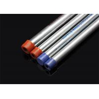 Quality BS 4568 / BS 31 Hot Dip Galvanized Conduit Pipe With Screwed Ends And Caps for sale