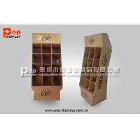 China Brown Power Wing Cardboard Display Stands With 9 Square Pocket For Notebook on sale