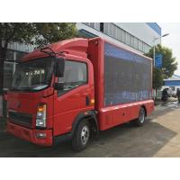 Quality Road Show LED Advertising Truck Howo 4X2 Mobile Stage P5 / P4 For Mobile Advertising for sale