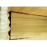 Quality Inside Cleaned Brass Round Tubing , Steam Ejector Copper Nickel Alloy Tubing for sale