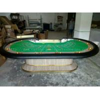 Buy cheap Custom Felt Baccarat Table With LCD , 110 inch Poker Table with Steel Cup product