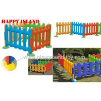 Quality Happy Island Playground Kids Toys Of Children Plastic Fence 4 Color Available for sale