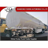 Quality 12000 Gallon Tri Axle Tanker Trailer 6 Cabins 12 Wheeler For Diesel / Gasoline for sale