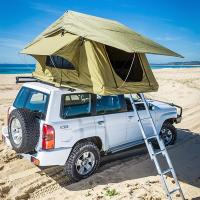 Quality Aluminum Pole Pick Up Roof Tent , Jeep Wrangler Unlimited Roof Top Tent for sale
