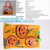 China Halloween Tote Bag Kids Pumpkin Bat Ghost Spider Gift Bags Halloween Props Children Toys Trick Treat Candy Bag bagease on sale