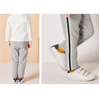 China Eco Kids Skinny Tracksuit Bottoms , Straight Boys Track Pants Long Trousers on sale