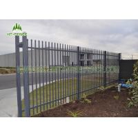 China Flat / Spear Top Steel Pool Fencing 1.2 × 2.4m Size With Heat Resistance on sale