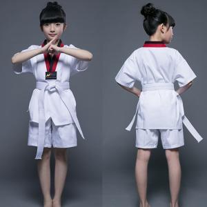 China Factory sale martial arts cotton polyester kukkiwon taekwondo uniform for master on sale