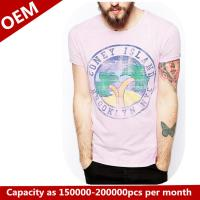 Quality Custom 100% cotton T shirt with printing for sale