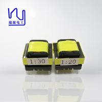 China Magnet Electronic High Frequency High Voltage Transformer Yellow Color on sale
