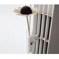China Custom White Decorative Solar Flower For Car Flower Vase, Glass Auto Vase TS-AV07 on sale