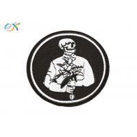 Quality Romantic Logo Custom Motorcycle Patches Pantone Color With Merrow Border for sale