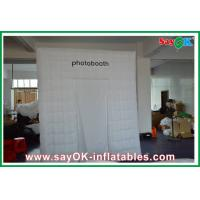 Quality Advertising Square Inflatable Photobooth One Door With Oxford Cloth for sale