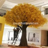 Wood Autumn Artificial Ginkgo Leaves Non - Toxic Moisture - Proof for sale