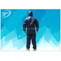 China 20gsm -70gsm Microporous Disposable Non Woven Coverall Safety For Food Processing on sale
