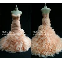 Quality Organza Mermaid Wedding Dress Sweetheart Drop Waist Bridal Gown with Ruffles BYB-14507 for sale
