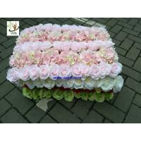 China UVG fashionable artificial flower mat carpet in roses and hydrangeas for wedding backdrop wall decoration CHR1136 on sale