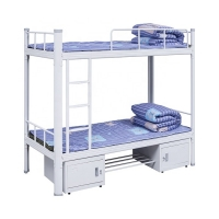 Quality Iron School Furniture L2000 Steel Bunk Bed Adult Student Bunk Bed for sale