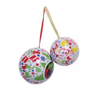 China Ball shape tin, metal packaging, promotional tin, customized tin, food grade tin box, Christmas tin on sale