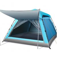 Buy cheap Blue 5 ~ 8 Person Marquee Tent / Big Camping Tent Double Layer from wholesalers