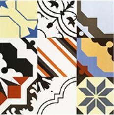 Quality Colorful Patterns Rest Room V4 24'X24' Bathroom Ceramic Tile for sale